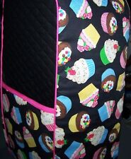 Cupcakes on Black Quilted Fabric Cover for VitaMix Machine New