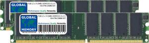 1GB (2 x 512MB) DDR 333MHz PC2700 184-PIN DIMM MEMORY RAM KIT FOR DESKTOPS/PCS