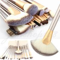 Pro 18PCS Kabuki Make Up Brushes Set Foundation Brush & Cosmetic Brushes Case