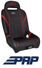 PRP Suspension Rear Seat - Black / Red for 14-17 Polaris RZR XP 1000 & Turbo