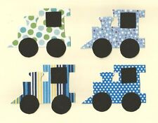Train Iron on Fabric Applique ( 4 Small Trains) Great for Baby Showers