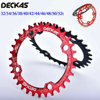 DECKAS BCD104mm 32T-52T MTB Bike Chainring Round/Oval Narrow Wide Chainwheel