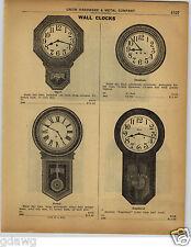 1922 PAPER AD Postal Regulator Wall Clock Ansonia Gresham Ingot