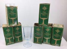 8 Vtg Goblets Aqua Blue STAR SAPPHIRE DUZ Advertising Premium Water Tea 7 Boxes