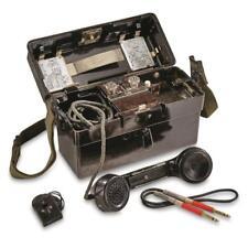 German Army Surplus Vintage Field Phone  FF OB/ZB