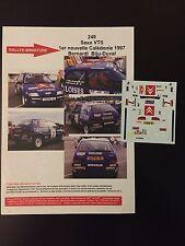 Calcomanías 1/43 Citroen Saxo Bernardi Rallye Nueva Caledonia 1997 WRC Rally