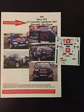 DECALS 1/43 CITROEN SAXO BERNARDI RALLYE NOUVELLE CALEDONIE 1997 WRC RALLY