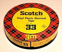 Vintage Scotch Electrical Tape No. 33 Tin Original Can & Original Tape