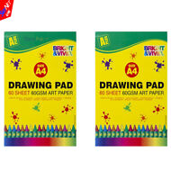 2x A4 ARTIST SKETCH DRAWING BOOKS PADS 60 SHEETS GREAT QUALITY