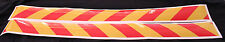 Yellow/Red Class 2 Reflective Tape 100mm x 1.15m Pair (Left & Right Direction)