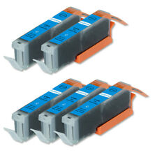 5 Cyan Ink Cartridge + LED Chip for CLI-251C Cannon MX722 MG7120 MG7520 iP8720