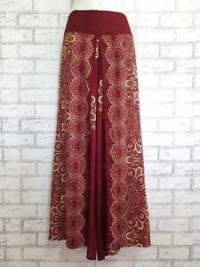 Ladies Wide Leg Pants Palazzo Lagenlook Bohemian Gypsy Hippie Trousers Wrap WPGF