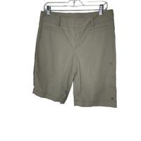 Athleta Womens Khaki Low Rise Bermuda Shorts Size 33 Beige Tan Walking Outdoors