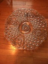 VINTAGE L.E. SMITH X-LARGE PUNCH BOWL UNDERPLATE DAISY AND BUTTON PATTERN