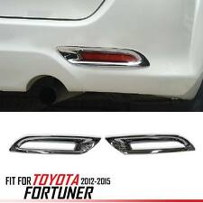 Chrome Rear Tail Reflector Cover Trim For Toyota Fortuner SW4 2012-2014