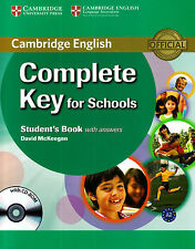 Cambridge COMPLETE KEY (KET) FOR SCHOOLS Student's Book with Answers &CD-ROM New