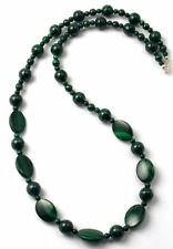 Cerys Sterling Silver Malachite Designer Necklace - Handmade in UK