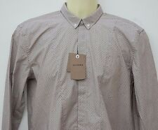 Ben Sherman Boys  100% Cotton Long Sleeved Shirt 14.15 Years Colour Claret  BNWT