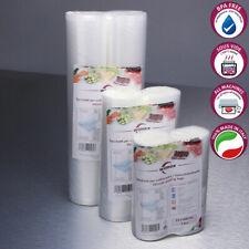 Sacchetti sottovuoto alimenti (2 rotoli). 2 MISURE. BPA Free/Made in Italy