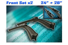 "24"" 26"" Mercedes Sprinter Aero Flat Twin Front Windscreen Wiper Blades Set 2006"