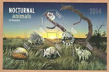 Namibie - Animaux de la nuit Bloc 84 neuf 2014 Mi. 1466-1471