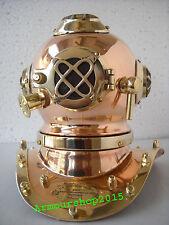Solid Brass Copper US Navy Diving Divers Helmet Miniature Antique Style Replica