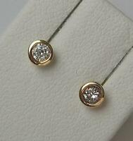 1 Paar Ohrringe Ohrstecker mit Brillanten 0,10 ct. aus 14 Kt. 585 Gold earrings