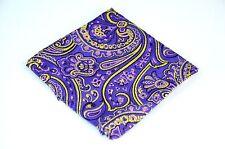 Lord R Colton Masterworks Pocket Square - St Ives Purple Silk - $75 Retail New