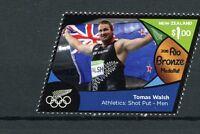 New Zealand NZ 2016 MNH Rio Bronze Medal Tomas Walsh Shot Put 1v Olympics Stamps