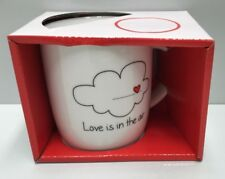 """GENERIC """" LOVE IS IN THE AIR """"  HANDLED COFFEE CUP MUG 370ML VALENTINES DAY"""