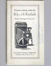 Kodak Six-16 Instruction Manual 1933 Anastigmat F6.3