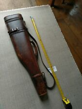 Vintage Leather gun Case in need of TLC in used condition