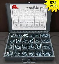 Grade 5 Bolts, Nuts & Washers Assortment Kit - 574 Pieces! FREE SHIPPING!