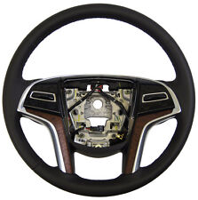 2015 Cadillac XTS Steering Wheel Black Leather W/Paddle Shifters New 23170500