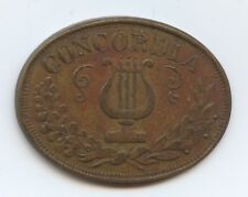 Exonumia Other Token Concordia (#8454) Oval Shaped 18Mmx24Mm. Nicely Done.