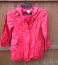 Girls Monsoon Red Waterproof Coat age 9-10 years