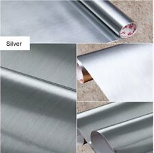 Peel and Stick Brushed Metal Contact Paper Film Vinyl Self Adhesive Wall Sticker