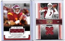 MATT LEINART LOT: 3 GAME USED JERSEYS, PLUS 30 MINT ALL DIFFERENT CARDS