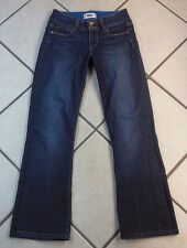 "PAIGE ""HIDDEN HILLS PETITE"" BOOT CUT WOMEN'S DENIM BLUE JEANS. SIZE 25 INSEAM 28"