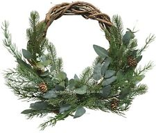 Artificial Luxury Eucalyptus Twig Wreath Ring 40cm - Realistic Wreaths Garlands