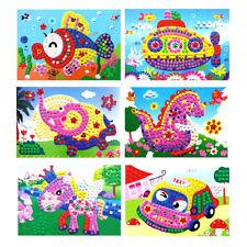 Baby Kids Children Developmental 3D Crystal Mosaics Art Sticker Mosaic Craft Toy