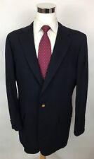Daks London New York Navy Structured Slim Fit Gold Button Wool Blazer Men's 44R