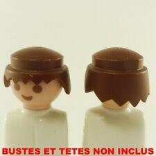 13513 Playmobil Lot de 2 Cheveux Marron Classique