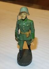 VINTAGE COMPOSITE ELASTOLIN GERMANY. GERMAN MILITARY FIGURE MARCHING WITH SWORD