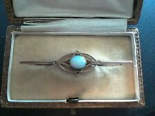 Beautiful Antique Art Deco 9ct Rose Gold Opal Brooch/Pin with Original Box 1.87g