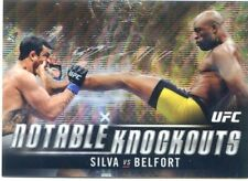 2018 Topps UFC Chrome ANDERSON SILVA VITOR BELFORT Notable Knockouts Wave #/99
