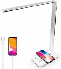LED Desk Lamps for Home, Touch Control Desktop Lamp with Wireless Charger, USB 5
