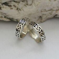Keltischer Herren Band Ring 925er Silber Sterlingsilber Keltischer Knoten