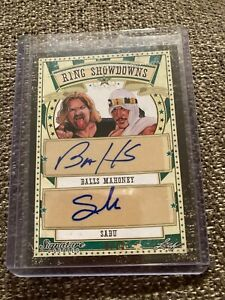 wwe balls mahony and sabu rare authentic autograph  8/10 green