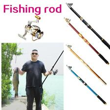 Fishing Rod Glass Fiber Telescopic River Sea Fishing Pole Spinning Saltwater New